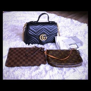 On hand gucci and lv.❤️💗